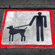 Stock Photo: Dog walking sign