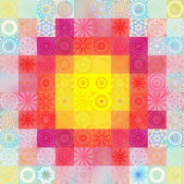 Color background with abstract mosaic — ストック写真