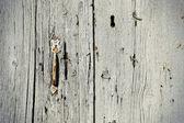 Vintage wooden door with handle — Stockfoto