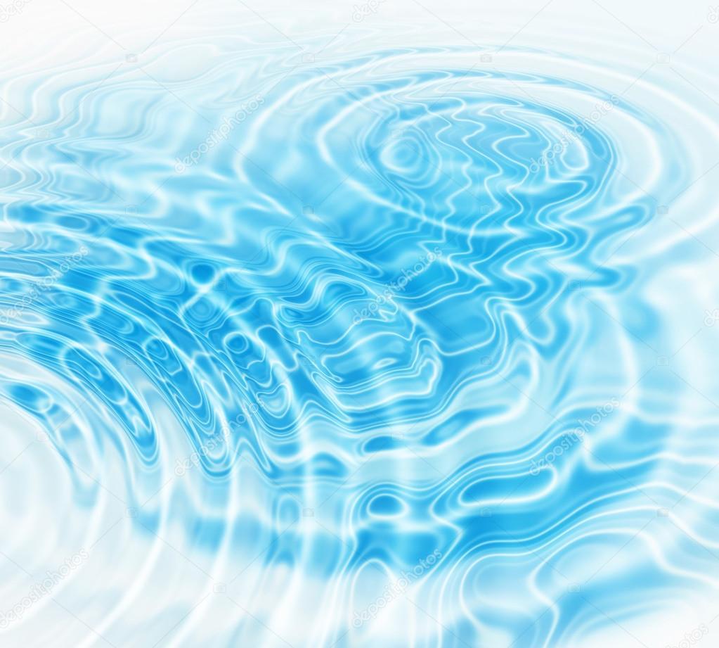 蓝色的水波纹抽象背景