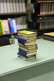 Stack of books on the table — Stock Photo
