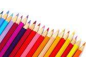Color pencils isolated on white background — Стоковое фото