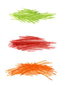Abstract color hand drawn design elements — Stock Photo