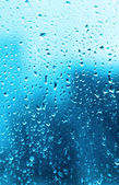 Water drops on glass — Stock Photo