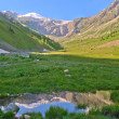 Little lake of mountain valley - Stock Photo