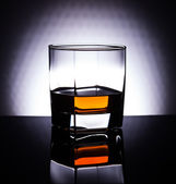 Whiskey in glass — Stock Photo