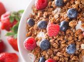 Muesli with berries — Stock Photo