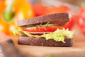 Stor smörgås — Stockfoto