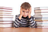 Estudante cansado — Foto Stock