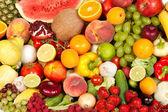 Obrovská skupina čerstvé zeleniny a ovoce — Stock fotografie