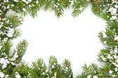 Rahmen für weihnachten mit schnee — Stockfoto