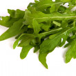 Arugula (rucola) fresh heap leaf isolated on a white background - Stock Photo