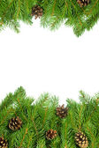 Kerstmis achtergrond. vooravond kader — Stockfoto