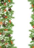 クリスマスの背景。イブのフレームワーク — ストック写真