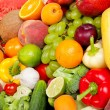 Huge group of fresh vegetables and fruits — Stock Photo