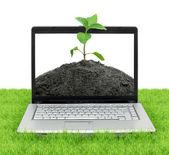 öppna laptop — Stockfoto