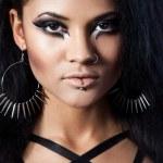 Beautiful woman. Fashion portrait. Close-up face makeup — Stock Photo #13949728