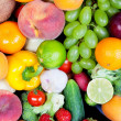 Huge group of fresh vegetables and fruits — Stock Photo #18470169