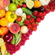 Huge group of fresh vegetables and fruits — Stock Photo #18470187