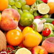 Huge group of fresh vegetables and fruits — Stock Photo #18470301
