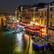 Grand Canal in Venice. Night — Stock Photo