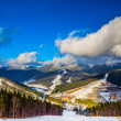 Landscape  in mountains Carpathians, Ukraine - Stock Photo