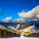 Landscape in mountains Carpathians, Ukraine — Stock Photo #19128375