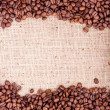 Stock Photo: Brown roasted coffee beans.