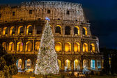Colosseum i rom, italien på jul — Stockfoto