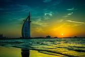бурдж аль араб является роскошный 5 звезд отель — Стоковое фото