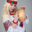 Royalty-Free Stock Photo: Woman wears Ukrainian national dress