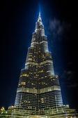 View on Burj Khalifa, Dubai, UAE, at night — Stock Photo