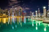Centro de dubai. este reino arquitectura de emiratos árabes unidos — Foto de Stock