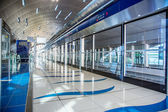 Dubai Metro Terminal in Dubai, United Arab Emirates. — Stock Photo
