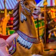 Carousel. Horses on a carnival Merry Go Round. — Stock Photo