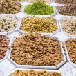 Dried fruit and nuts mix in Dubai market — Stock Photo #23267782