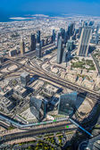 Dubai downtown. East, United Arab Emirates architecture. Aerial — Stock Photo
