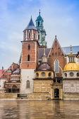 波兰,复杂在克拉科夫的瓦维尔大教堂 — 图库照片