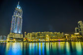 Address Hotel in the downtown Dubai area overlooks the famous da — Stock Photo
