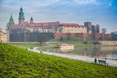 Wawel Castle and Wistula . Krakow Poland. — Stock Photo