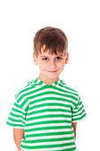 Sevimli çocuk güleryüzlü izole — Stok fotoğraf
