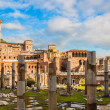 Roman ruins in Rome. - Stock Photo