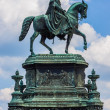 Equestrian Statue of King John of Saxony in Dresden, Germany — Stock Photo #24398021
