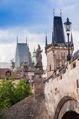 Prague. Charles Bridge in Prague Czech Republic — Stock Photo