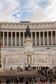 Equestrian monument to Victor Emmanuel II near Vittoriano in Rome — Stock Photo