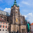 The west facade of St. Vitus Cathedral in Prague Czech Republic - Zdjcie stockowe