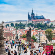 Karlov or charles bridge in Prague in summer — Stock Photo #24504257