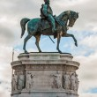Royalty-Free Stock Photo: Equestrian monument to Victor Emmanuel II near Vittoriano in Rom