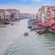 mooie water street - grand canal in Venetië, Italië — Stockfoto