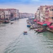 via bella acqua - grand canal a Venezia, Italia — Foto Stock